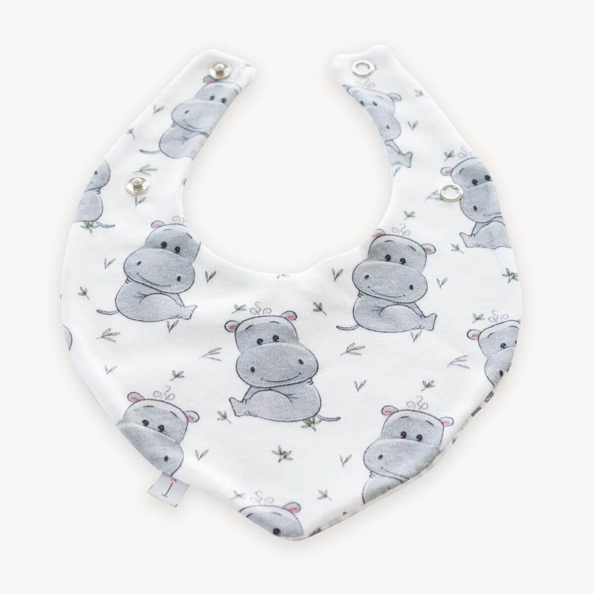babero bandana quitababas de hipopótamos