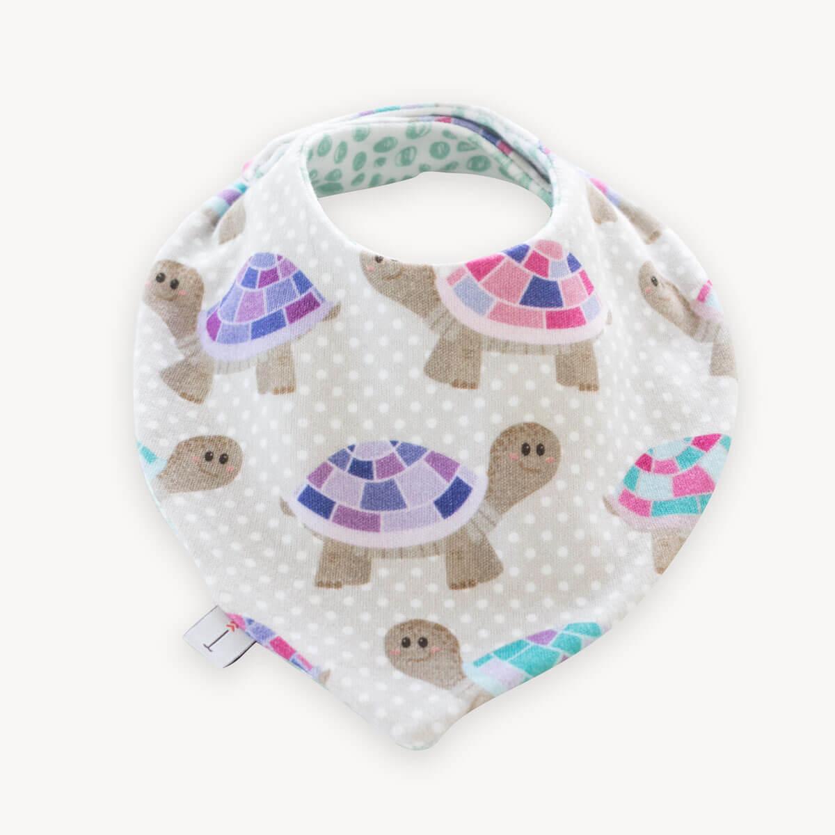 babero bandana quitababas de tortugas