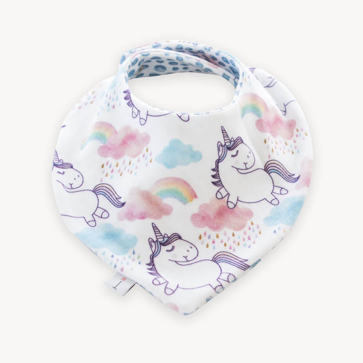 babero bandana quitababas de unicornios
