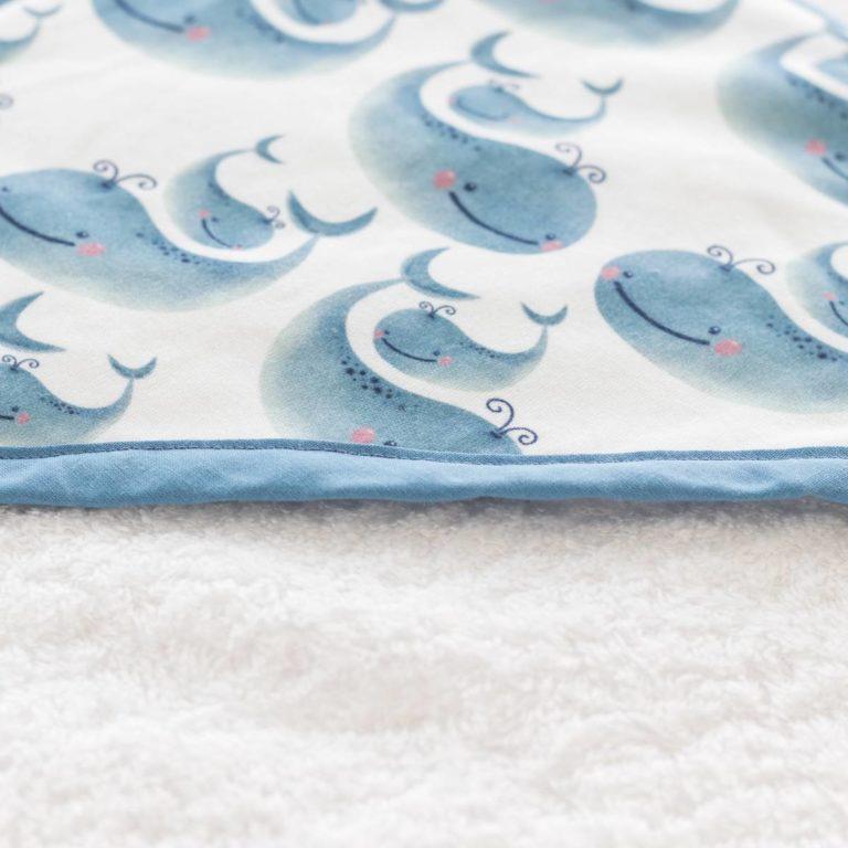 capa de baño de ballenas