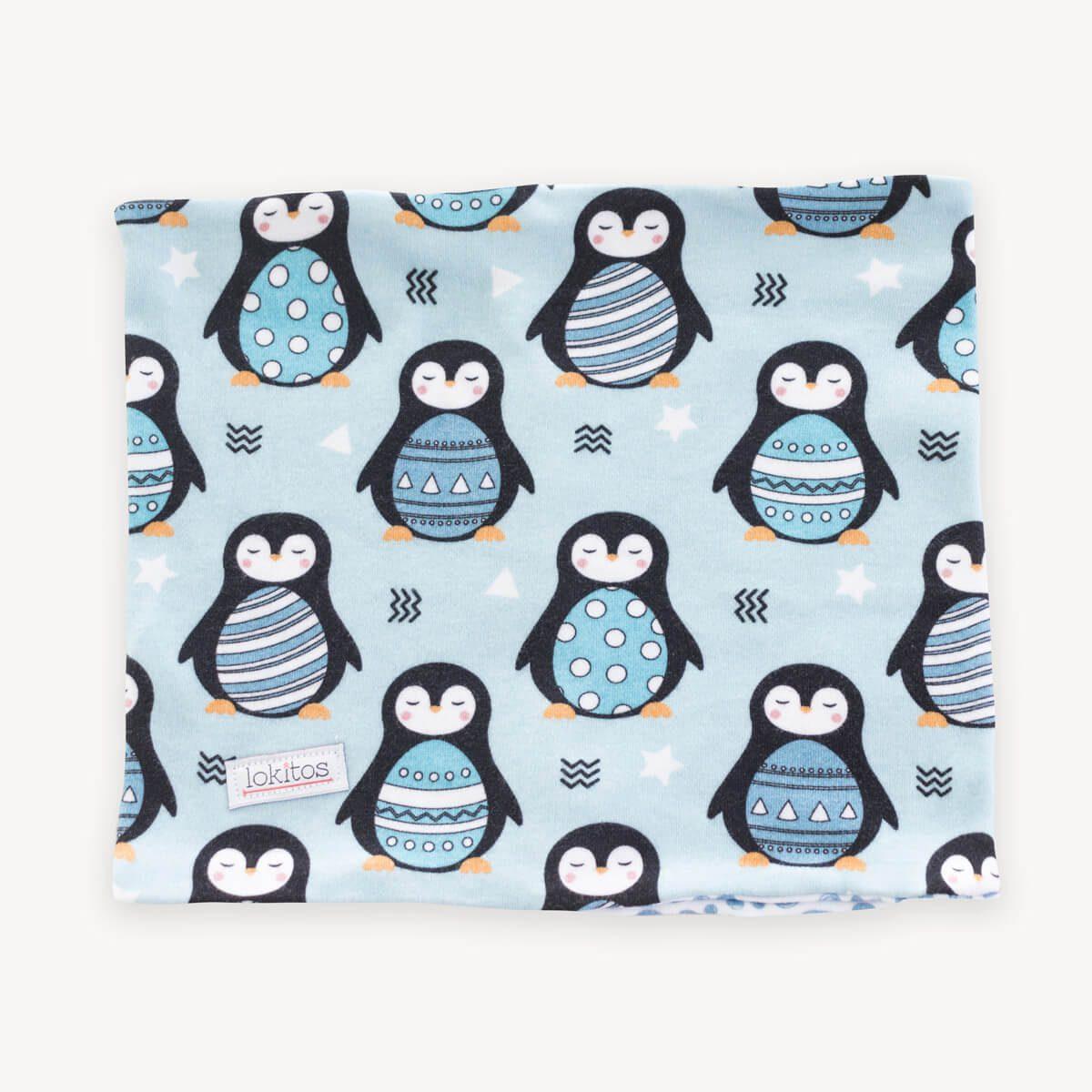 braga para el cuello de pingüinos azules