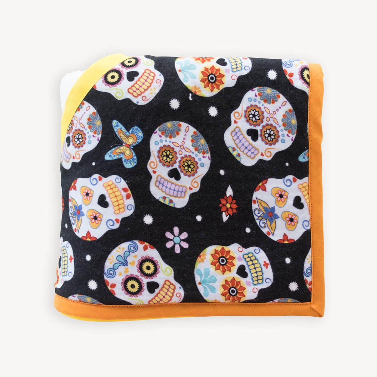 capa de baño de calaveras mexicanas