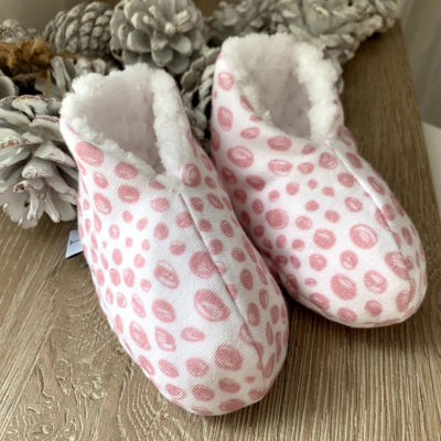 front pink booties